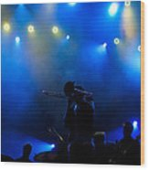 Music In Blue - Montreal Jazz Festival Wood Print