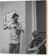Music In The French Quarter Wood Print