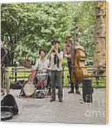 Music In The Park Wood Print
