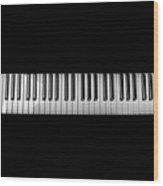 Music Keyboard Wood Print