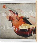 Music Lover Card Wood Print