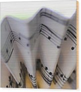 Music Notes Wood Print