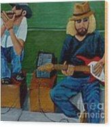Music Of The Street Wood Print