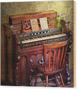 Music - Organist - Playing The Songs Of The Gospel  Wood Print