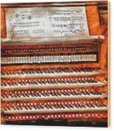 Music - Organist - The Pipe Organ Wood Print by Mike Savad