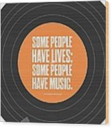 Music Quotes Typography Print Poster Wood Print by Lab No 4 - The Quotography Department