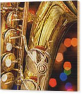 Music - Sax - Very Saxxy Wood Print