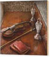 Music - Violin - A Sound Investment  Wood Print