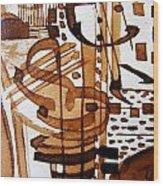 Musical 7 Wood Print