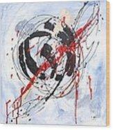 Musical Abstract 002 Wood Print