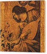 Musical Angel Wood Print