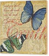 Musical Butterflies 3 Wood Print