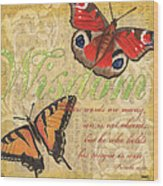 Musical Butterflies 4 Wood Print