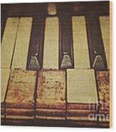 Musical Fingerprints Wood Print