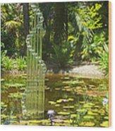 Musical Garden Wood Print