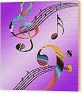 Musical Illusion Wood Print