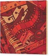 Musical Movements Wood Print