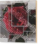 Musical Rose Montage Wood Print