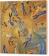 Musical Waters Wood Print