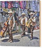 Musicians La Bufadora Wood Print
