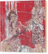 Musicians On Chartres Street I Wood Print