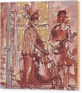 Musicians On Royal Street New Orleans Wood Print