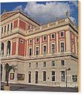 Musikverein Gesellschaft Der Musikfreunde Building Vienna Austria Wood Print