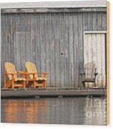 Muskoka Chairs Wood Print