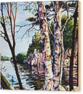 Muskoka Reflections Wood Print