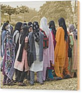 Muslim Girls Wood Print