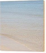 Muslim Woman On The Beach 2 Wood Print