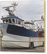 Mussel Boat Wood Print