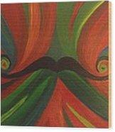 Mustache Wood Print