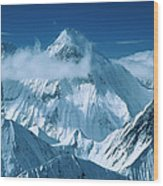 Mustagh Tower At Center And Masherbrum Wood Print
