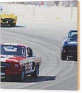 Mustang and Corvette Racing Watercolor Wood Print