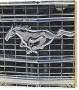 Mustang Emblem Wood Print