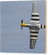 Mustang Flyby D-day Wood Print