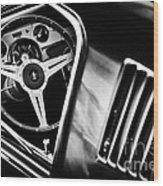 Mustang Interior Monochrome Wood Print