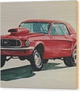 Mustang Launch Wood Print