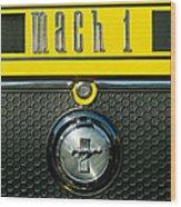 Mustang Mach 1 Emblem 2 Wood Print