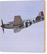 Mustang P-51 Aircraft Wood Print