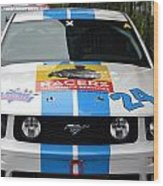 Mustang Race Car Wood Print