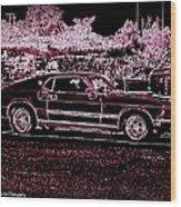Mustang Rose Wood Print