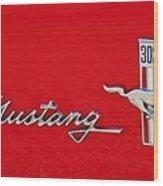 Mustang Three O Two Wood Print