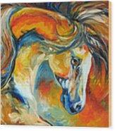 Mustang West Wood Print