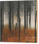 Mute Dog Forest Triptych Panel 1 Wood Print