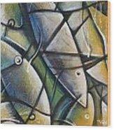 Muted Fish Wood Print