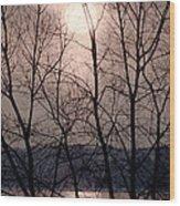Muted Sunrise Wood Print