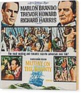 Mutiny On The Bounty, Us Poster Art Wood Print