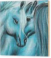 Mutual Companions- Fine Art Horse Artwork Wood Print